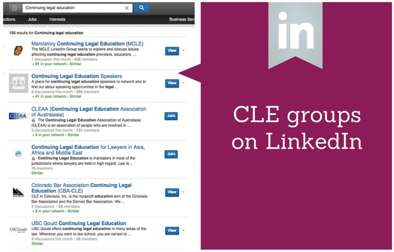 CLE Groups on LinkedIn