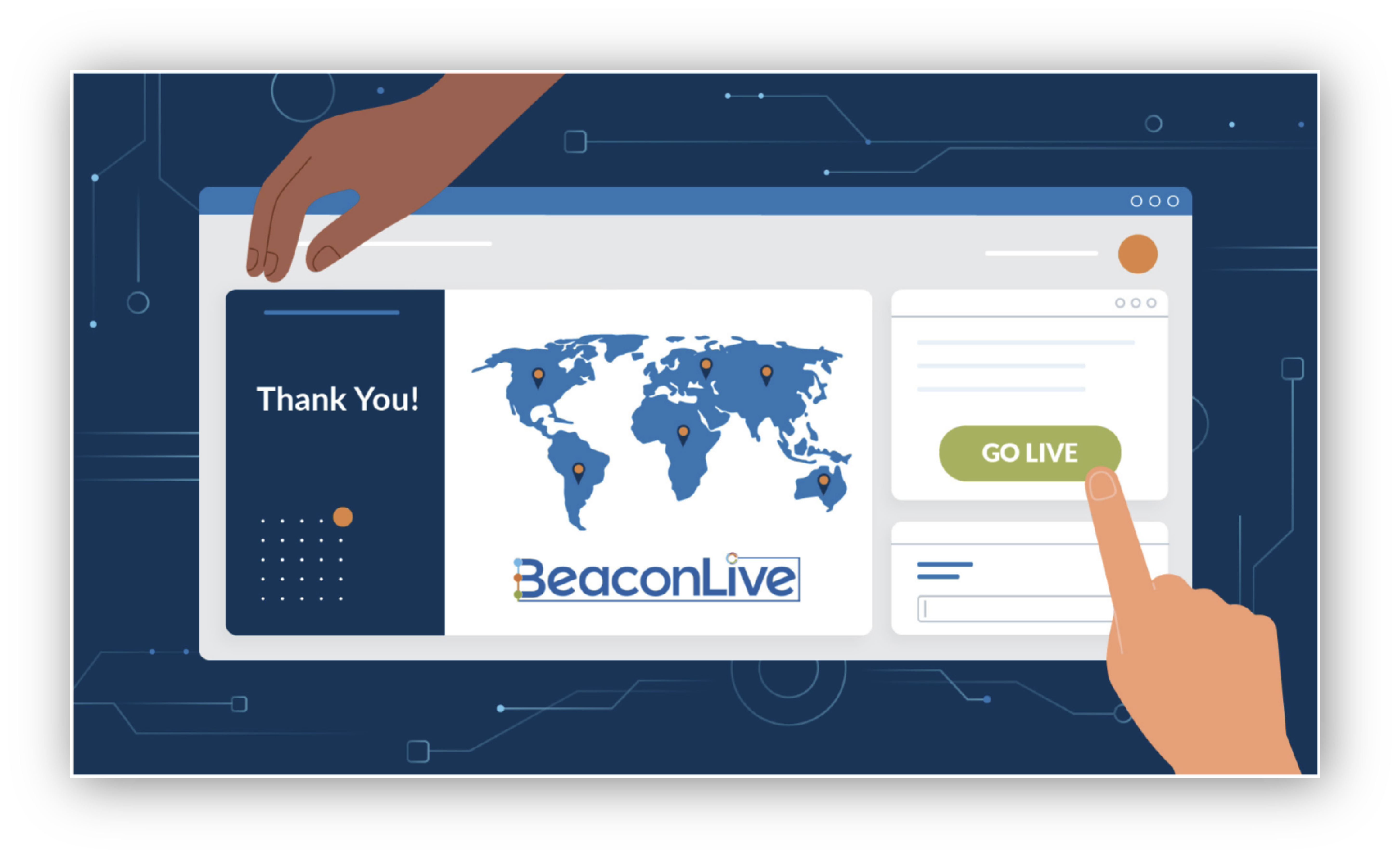 Go Live with BeaconLive animation